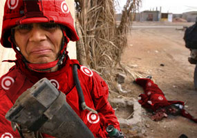Target Iraq - Crying Soldier